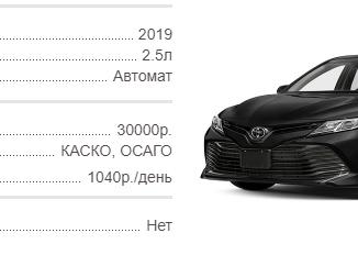Аренда новых Toyota Camry в Крыму