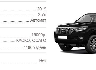 Прокат Toyota Land Cruiser Prado (2019 г.в.) в Крыму