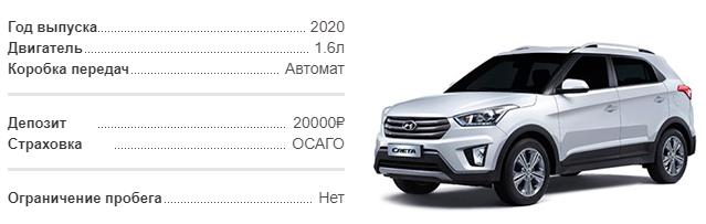 Аренда Hyundai Creta 2020 в Крыму