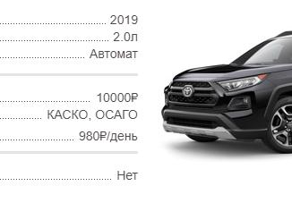 Аренда Toyota Rav4 в Крыму