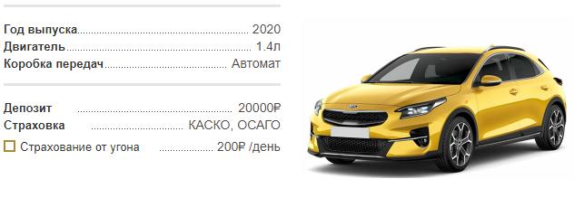 Аренда Kia X Ceed 2020 в Крыму